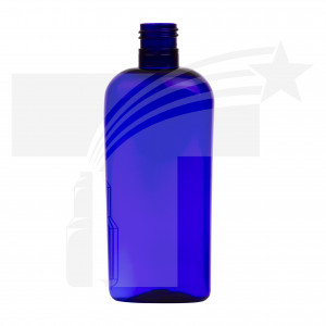 BOTELLA OVAL 250 ML. R-24/415 AZUL COBALTO
