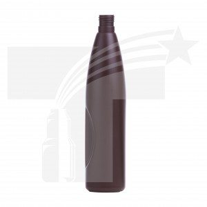 BOTELLA PROFESIONAL CON HENDIDURA 500 ML. CHOCOLATE