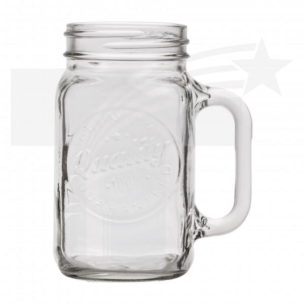 tarro de vidrio con asa 16 oz r 70 cristal - Tarros De Vidrio